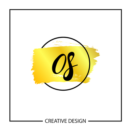 Initial Letter OS Logo Template Design