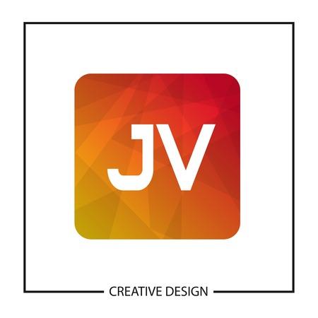Initial Letter JV Logo Template Design Illustration
