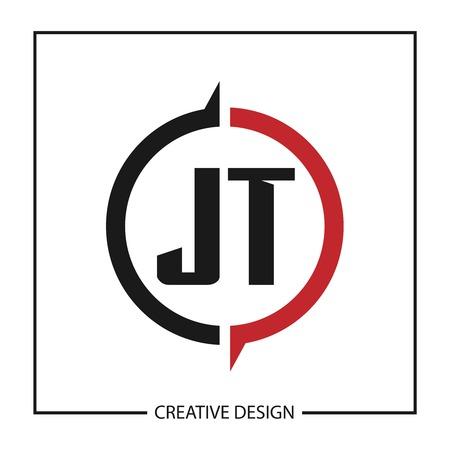 Initial Letter JT Logo Template Design Logó