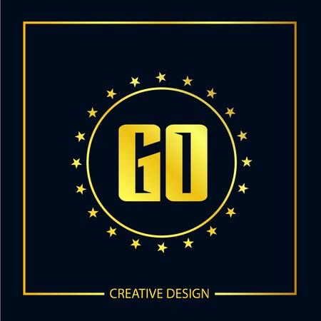 Initial Letter GO Logo Template Design