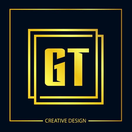 Initial Letter GT Logo Template Design