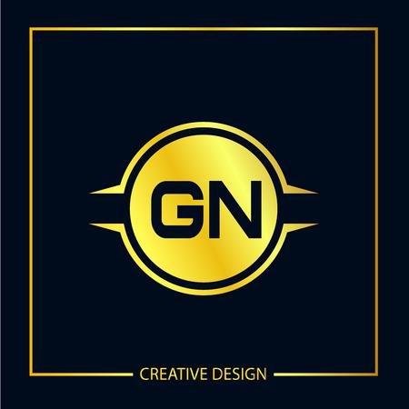 Initial Letter GN Logo Template Design
