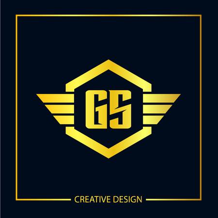 Initial Letter GS Logo Template Design