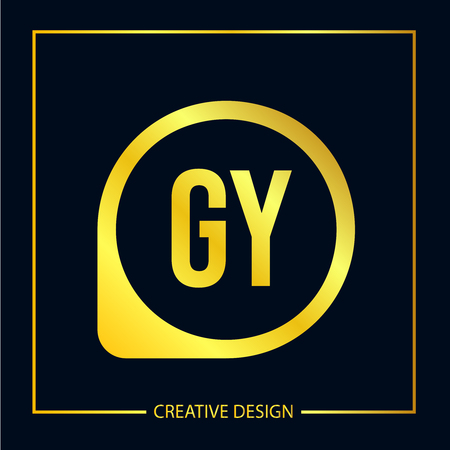 Initial Letter GY Logo Template Design Logó