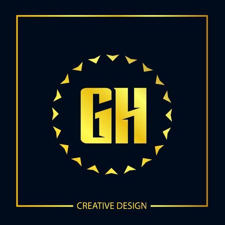 Initial Letter GH Logo Template Design
