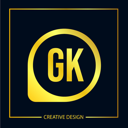 Initial Letter GK Logo Template Design Illustration