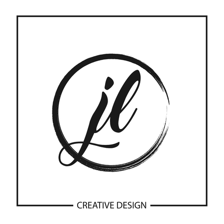 Initial Letter JL Logo Template Design Illusztráció