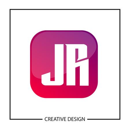 Initial Letter JR Logo Template Design Logo