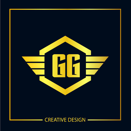 Initial Letter GG Logo Template Design