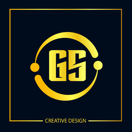 Initial Letter GS Logo Template Design