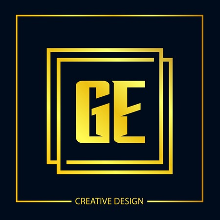 Initial Letter GE Logo Template Design Banco de Imagens - 112710643