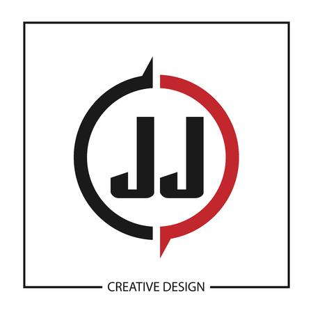 Initial Letter JJ Logo Template Design Çizim