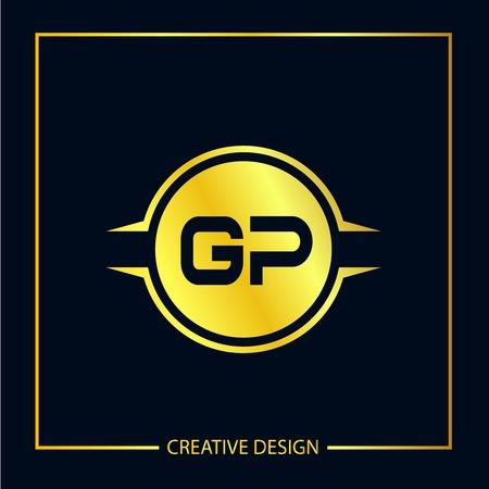 Initial Letter GP Logo Template Design Logó