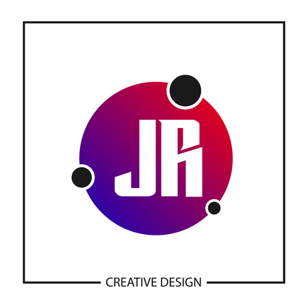 Initial Letter JR Logo Template Design
