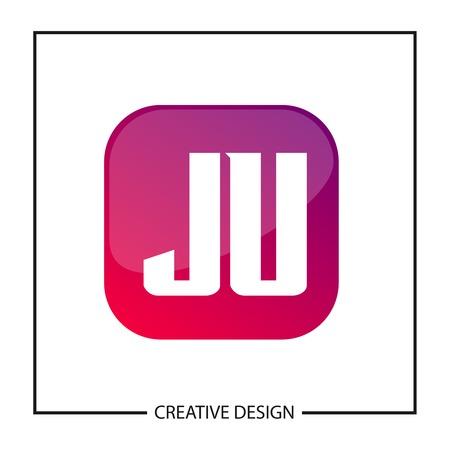 Initial Letter JU Logo Template Design 向量圖像