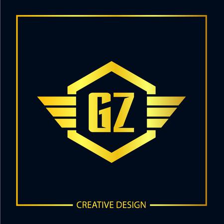 Initial Letter GA Logo Template Design Logo