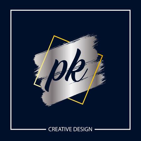 Initial Letter PK Logo Template Design