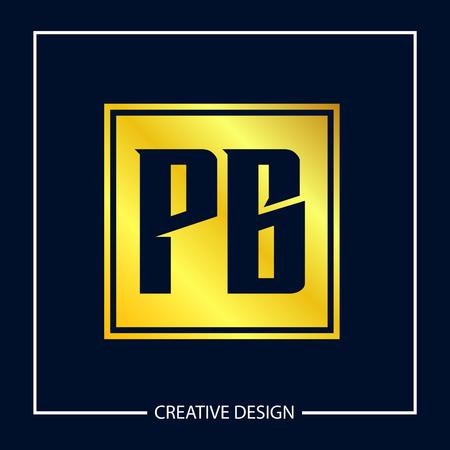 Initial Letter PG Logo Template Design Illustration