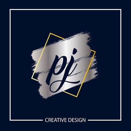 Initial Letter PJ Logo Template Design Ilustração