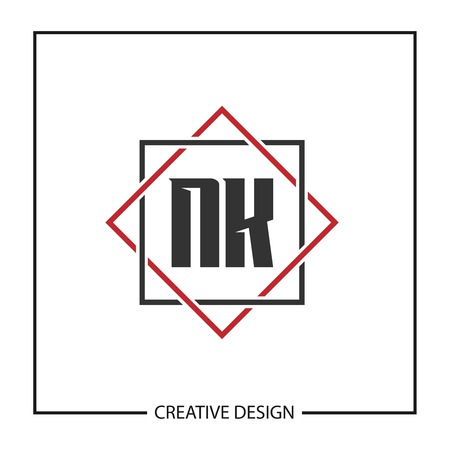 Initial Letter NK Logo Template Design Logó