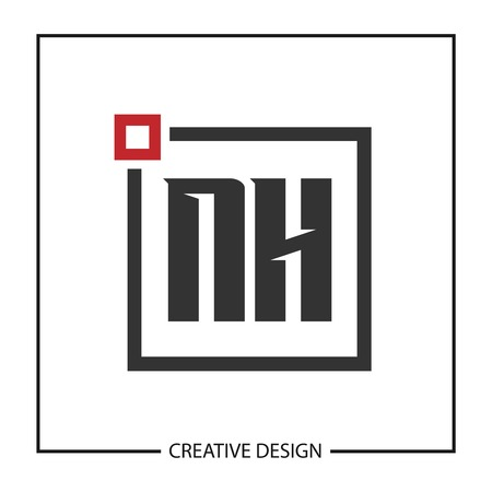 Initial Letter NH Logo Template Design Vectores