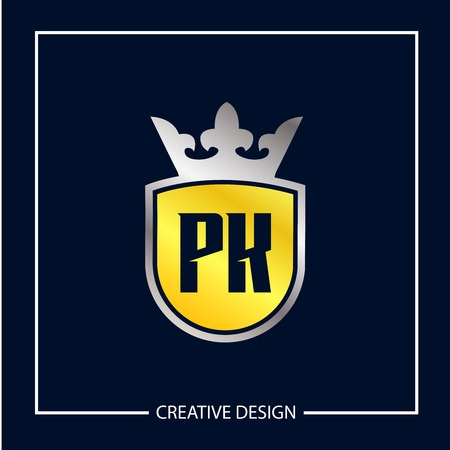 Initial Letter PK Logo Template Design Logó
