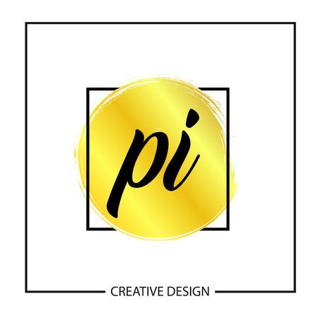 Initial Letter PI Logo Template Design