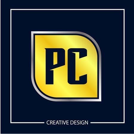 Initial Letter PC Logo Template Design
