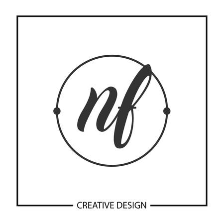 Initial Letter NF Logo Template Design Illustration