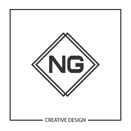 Initial Letter NG Logo Template Design