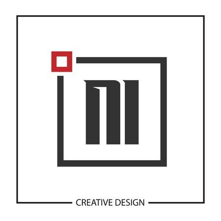 Initial Letter NI Logo Template Design Logó