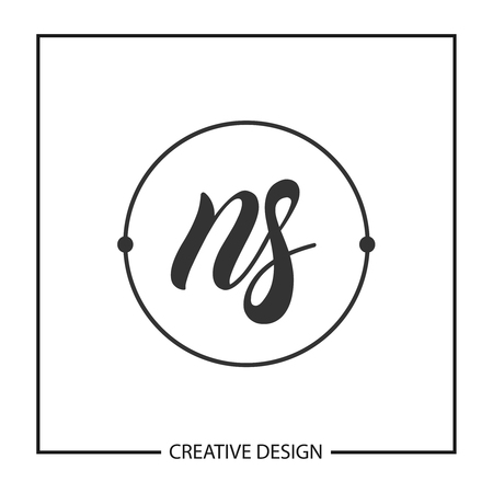 Initial Letter NS Logo Template Design
