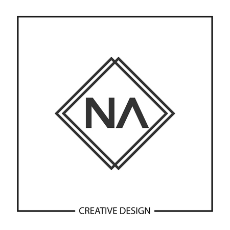 Initial Letter NA Logo Template Design