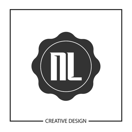 Initial Letter NL Logo Template Design