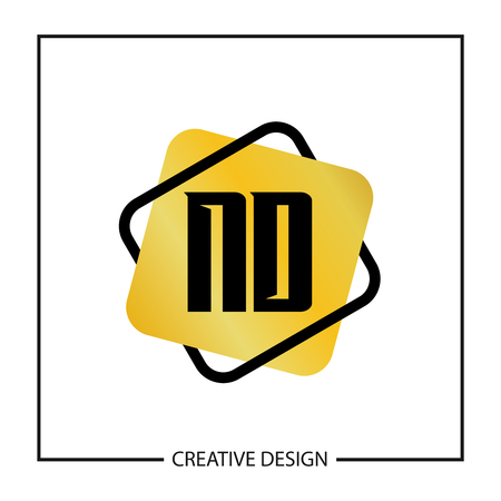 Initial Letter ND Logo Template Design