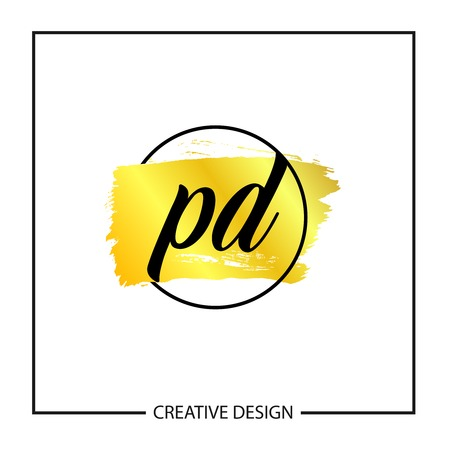 Initial Letter PD Logo Template Design