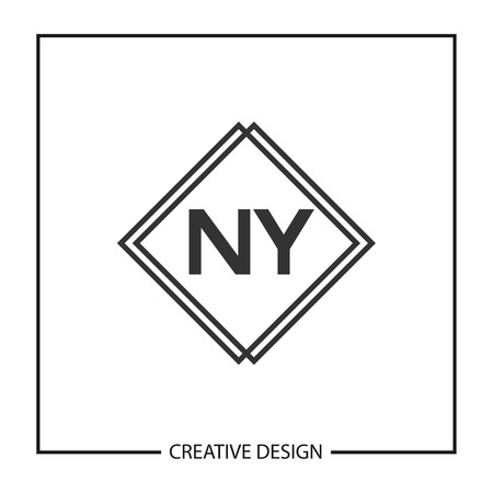 Initial Letter NY Logo Template Design Illustration