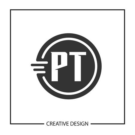 Initial Letter PT Logo Template Design Vector Illustration Logó