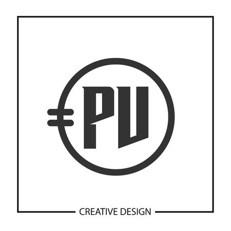 Initial Letter PV Logo Template Design Vector Illustration