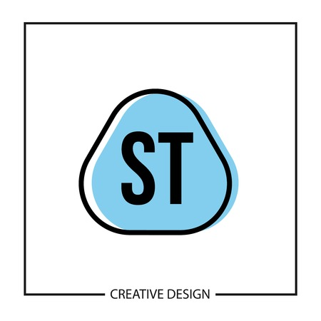 Initial Letter ST Logo Template Design