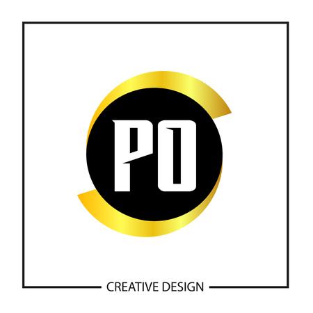 Initial Letter PO Logo Template Design Banco de Imagens - 112927867