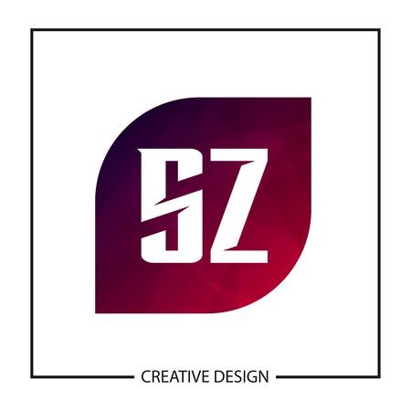 Initial Letter SZ Logo Template Design Logó