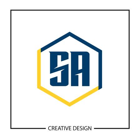 Initial Letter SA Logo Template Design