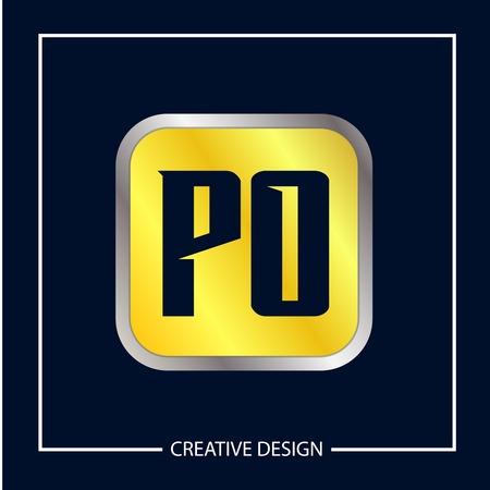 Initial Letter PO Logo Template Design Banco de Imagens - 112929260