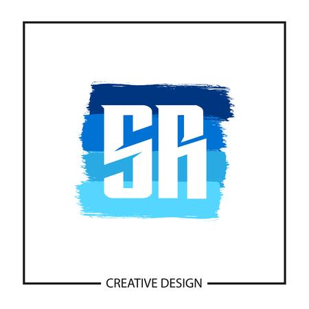 Initial Letter SR Logo Template Design Stok Fotoğraf - 112929263