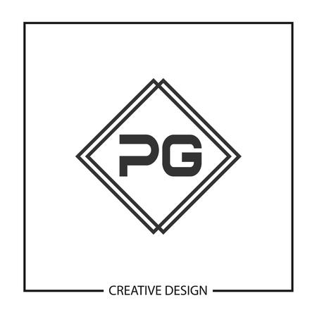 Initial Letter PG Logo Template Design Vector Illustration