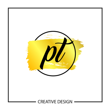 Initial Letter PT Logo Template Design Logó
