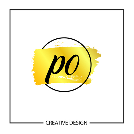 Initial Letter PO Logo Template Design Banco de Imagens - 112930283