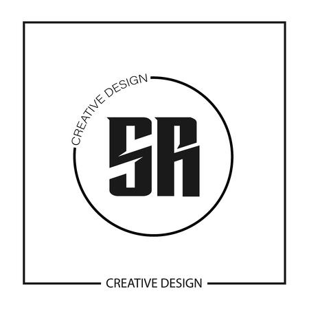 Initial Letter SR Logo Template Design