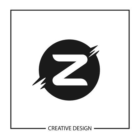 Initial Letter Z Logo Template Vector Design Logó